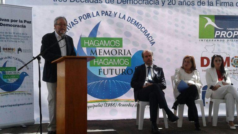 Lanzamiento iniciativas por la Paz y la democracia